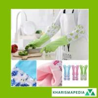 Sarung Tangan Karet Rumah Tangga Dapur Cuci Piring Baju Berkebun Motif