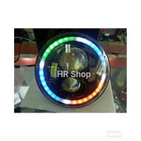 NEW LAMPU DAYMAKER 7 INCH DRL SENJA RGB Mantap