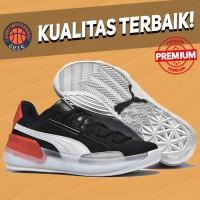 Sepatu Basket Sneakers Puma Clyde Hardwood Dreamville Black White Red