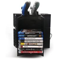 KJH storage stand kit cooling fan kipas charging dock PS4 fat slim pro