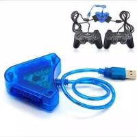 Converter USB 2 Slot Stik Stick PS2 ke PS3 / PC Double/converter ps