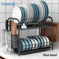 Freemir rak piring peralatan makan serbaguna multifunctional dish rack