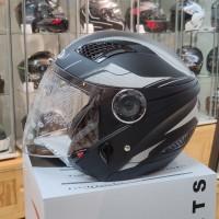 Helm Zeus ZS610 O14 MATT BLACK/SILVER Double Visor