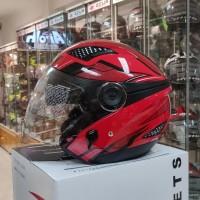 Helm Zeus ZS610 O14 DRED/RED Double Visor