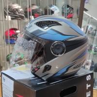Helm Zeus ZS610 O14 MATT DSIL/BLUE Double Visor