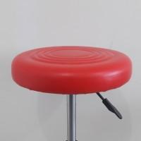 Kursi Cafe Bulat/Kursi Muter/Kursi Bar/Kursi Laboratorium. - Merah