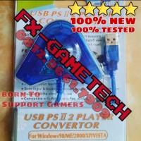 Konverter Converter Adaptor Stick Stik PS2 Playstation 2 to USB PS3 PC