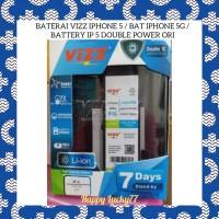 Baterai Vizz Iphone 5 / Bat Iphone 5G / Battery IP 5 Double Power Ori