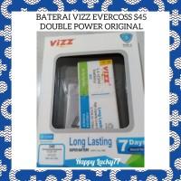 Baterai Vizz Evercoss S45 Double Power Original