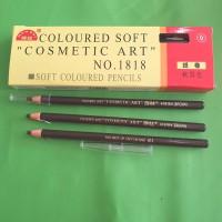 pensil alis tarik benang eyebrow praktis warna dark brown 9 isi 12 pcs