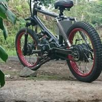 Frame Rangka Motor BMX Cub Double Shock Belakang