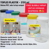Toples bumbu 250ml / Botol Sambal 250 ml / Toples Plastik 250gr 250 Gr