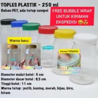 Toples Yupi Plastik 250ml / Toples permen 250gr / Toples Snack 250 gr - Putih