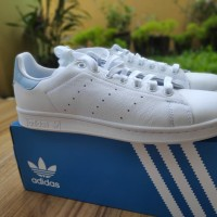 Adidas Original Stan Smith White/Light Blue BNIB - Putih, 9
