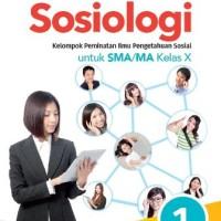 Buku Sosiologi Kun Maryati SMA KLS 10 PEMINATAN Penerbit ERLANGGA