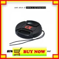 TI517 XHZ Penutup Lensa Kamera Lens Cap Sony Alpha Logo 62mm - Black