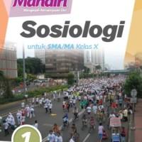 Buku Mandiri SOSIOLOGI SMA KLS 10 Penerbit ERLANGGA