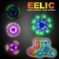 EELIC FIS-SUPER BIRU LED FINGER SPINER FINGER HAND SPINNER TOYS F
