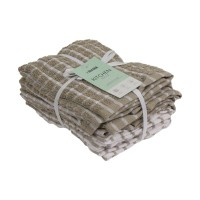 INFORMA- LAP KAIN - KITCHEN TOWEL SET OF 6 CHECK PATTERN BGE