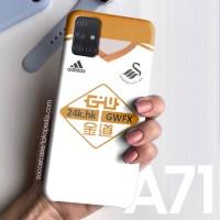 Casing case Samsung White Swansea City Logo A71 A50s A51 A10 2020