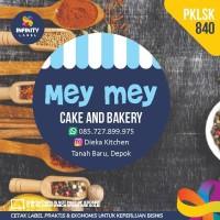 stiker label murah produk kemasan kue cake toples makanan PKLSK-840