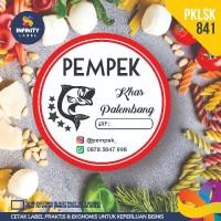 stiker label murah produk kemasan kue cake toples makanan PKLSK-841
