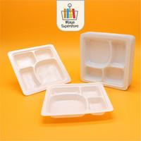 Kotak Makan Mika 18 x 18 cm Alas Sekat Makan Nasi Ketring Catering - Sekat 4