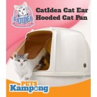 Bak pasir kucing hooded besar CatIdea CatEars Hooded cat litter pan