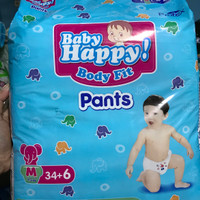 Baby Happy Body Fit Pants Popok Anak Dan Bayi Size M 34+6 / L 30+6