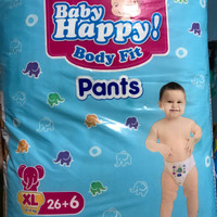 Baby Happy Body Fit Pants Popok Anak Dan Bayi Size XL 26+6 / XXL 24+6