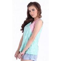 Blouse Batik Wanita Rianty Batik Sandy tosca