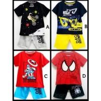 Setelan anak karakter laki-laki size 1-6 tahun - Kaos anak -Baju anak