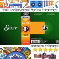 ELIXIR 14502 NANOWEB Plated Senar Acoustic Bass 6 String Elixir Ori 45