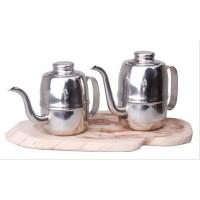 Teko Leher Angsa - Alat Kopi Maker Olive Kettle 420 ml - Coffee Ketel