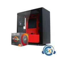 PC RAKITAN RYZE 400G ASROCK A320M RAM 8GB SSD 120GB CASE NEXUS M