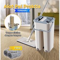 Alat Pel Lantai Set Ultra Mop Otomatis Praktis - Alat Pembersih Lantai