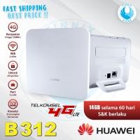 Home Router Modem Huawei B312 4G LTE Unlocked Free TELKOMSEL 14GB - Putih