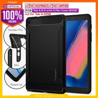 Case Galaxy Tab A 8.0 SPIGEN Rugged Armor Softcase Carbon Fiber Casing