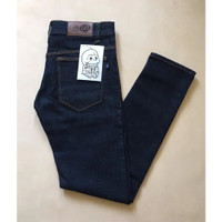 Celana Panjang Jeans Pria Pensil Strecth Slim fit Skinny Full Hitam Bl