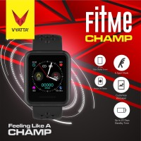 VYATTA Fitme CHAMP Smartwatch - Custom Watch Faces, Metal, Sport