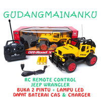Mobil RC Buka Pintu Big Foot Remote Control Jeep Wrangler