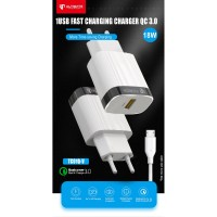Ultimate Power Charger Fast Charging QC + Kabel Micro Usb QC 3.0 TC01Q