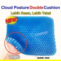 [NEW] Bantalan Alas Duduk Silikon Gel Posture Air Cushion - Egg Sitter