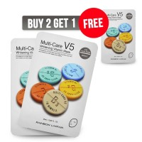 BUY 2 GET 1 FREE - L'Affair Face Mask Multicare V5 Whitening
