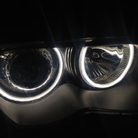 ccfl led ring angel eyes putih bmw e46 non projector