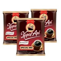 Kapal Api Special Mix Kopi Hitam + Gula 1 Sachet 25gr