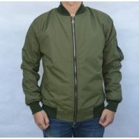 Jaket Motor Harian Pilot / Bomber Hijau Army tahan angin & air