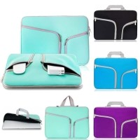Tas Laptop 13 inch Softcase Macbook Sleeve Case Doubel Pocket - Tosca