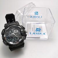 Jam tangan digital double time Sporty water Resist Lasika 506 - Hitam