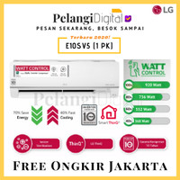 LG AC DUALCOOL Inverter Watt Control, WiFi, Ionizer 1 PK - E10SV5